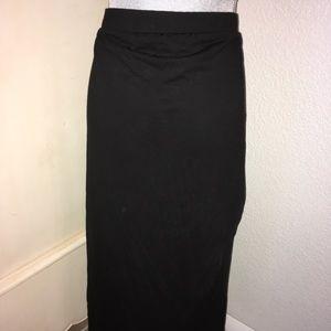ASOS maternity black wrap skirt